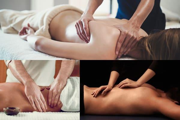 un massaggio alla schiena